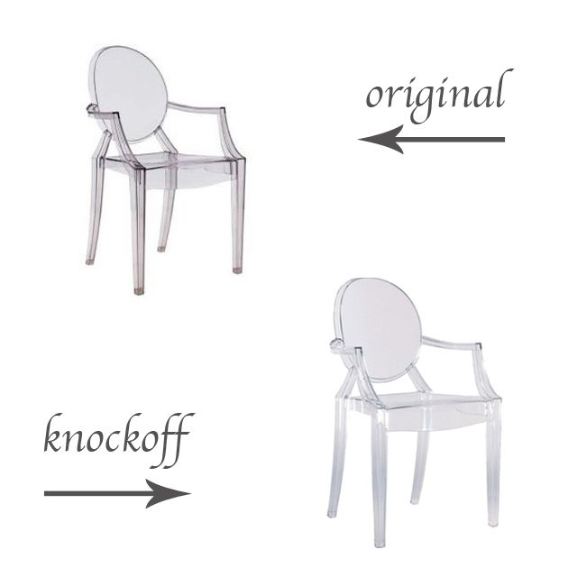 Original Vs Knockoff Philippe Starck S Louis Ghost Chair Louis