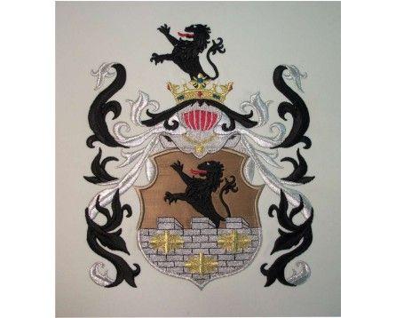 Herb rodowy / szlachecki ZAREMBA - AHA STUDIO Pracownia Haftu Artystycznego | HAFT ARTYSTYCZNY -HERBY, SZTANDARY, PROPORCZYKI  cena 250 zł.   ZAMÓW