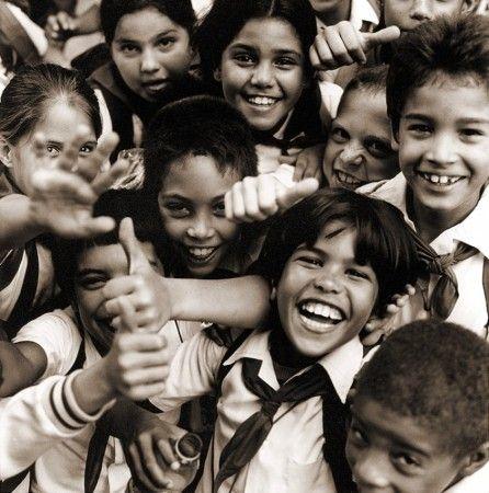 Happy Cuban Children by Bingo Rimér