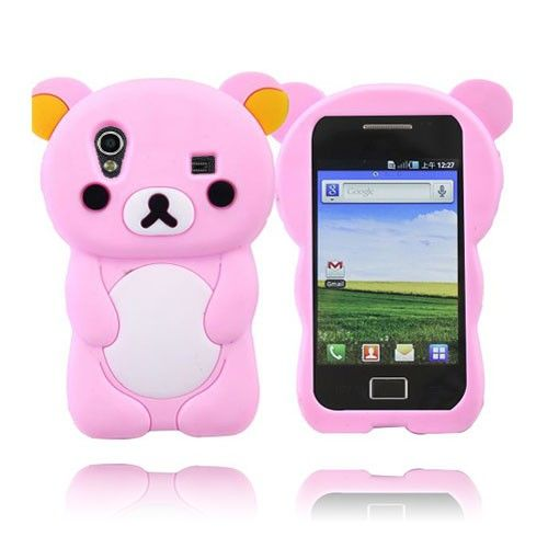 Cute Bear (Rosa) Samsung Galaxy Ace Deksel