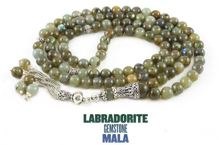 Labradorite mala. #mala #meditation #gemstone #labradorite