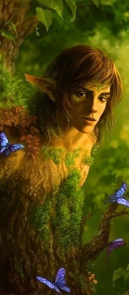 They say that the elven and fae folk are ever present and many are disguised in the living earth.  If you are out in nature and especially in the woods and you hear a buzzing or get an unexplainable sense of awe or fear.  It is said it is an Elven/Fae guardian nearby