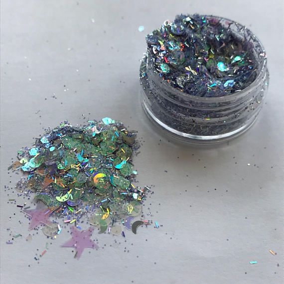 Beautiful festival glitter that can be applied on the body or face! I recommend using regular vaseline to stick it down or eyelash glue for a longer lasting effect. This glitter comes in a 5ml pot filled to the top! Thank you and please email with any questions. We stock a lot of