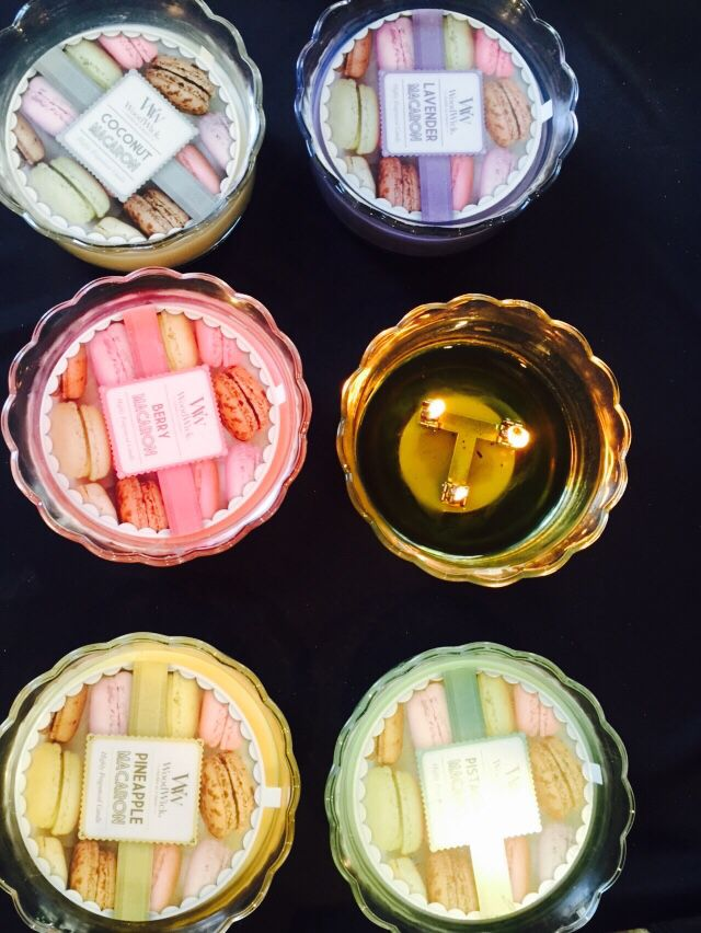 Macaroon candles by WoodWick