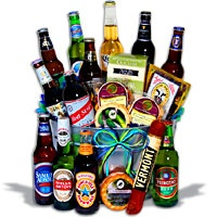 A beer bouquet! Perfect for hard-to-buy-for men! =0)