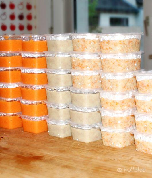 Babybrei selber kochen - Fertige Portionen einfrieren. Kostenlose DIY-Anleitung