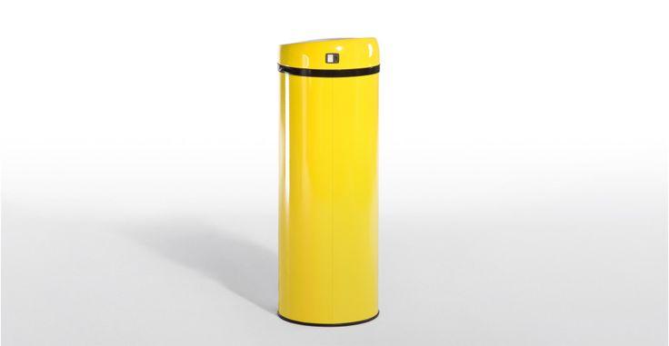Sensé Bin, une poubelle automatique 50L jaune   made.com