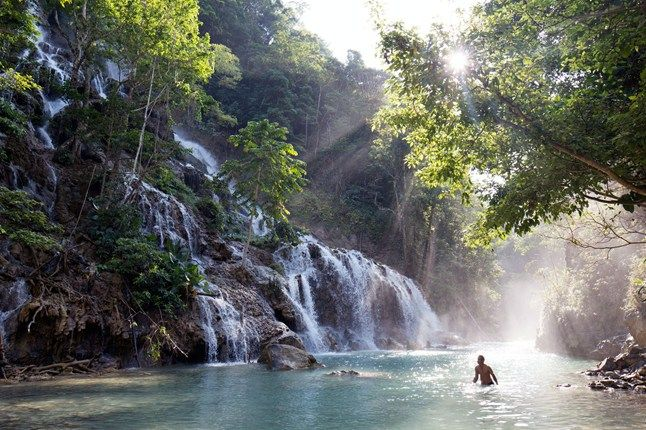 A waterfall pool on Sumba Island, Indonesia | via cntraveller.com