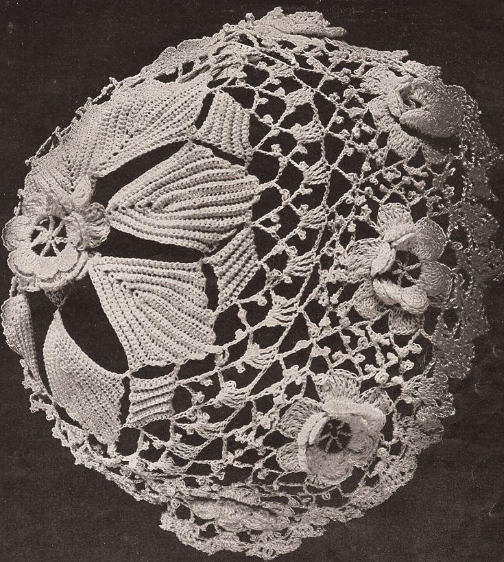 Vintage Antq Baby Cap Hat Bonnet Irish Crochet Pattern | eBay1301 x 1449 | 857.8 KB | www.ebay.com.au