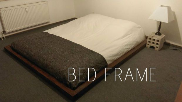 cadre de lit palette diy tutoriel chambre pinterest cadre de lit palette cadres de lit. Black Bedroom Furniture Sets. Home Design Ideas