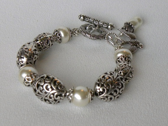 Lillian Handmade Beaded Bracelet by bdzzledbeadedjewelry on Etsy, $34.00