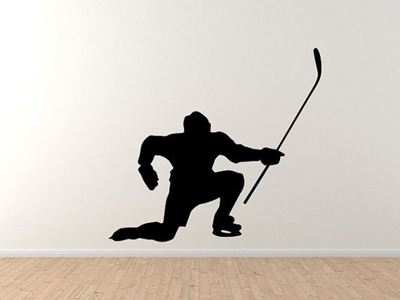 Hockey Player Celebrate Fist Pump Shadow Version 11 Wall Vinyl Decal Home Decor on Etsy, $21.22 CAD