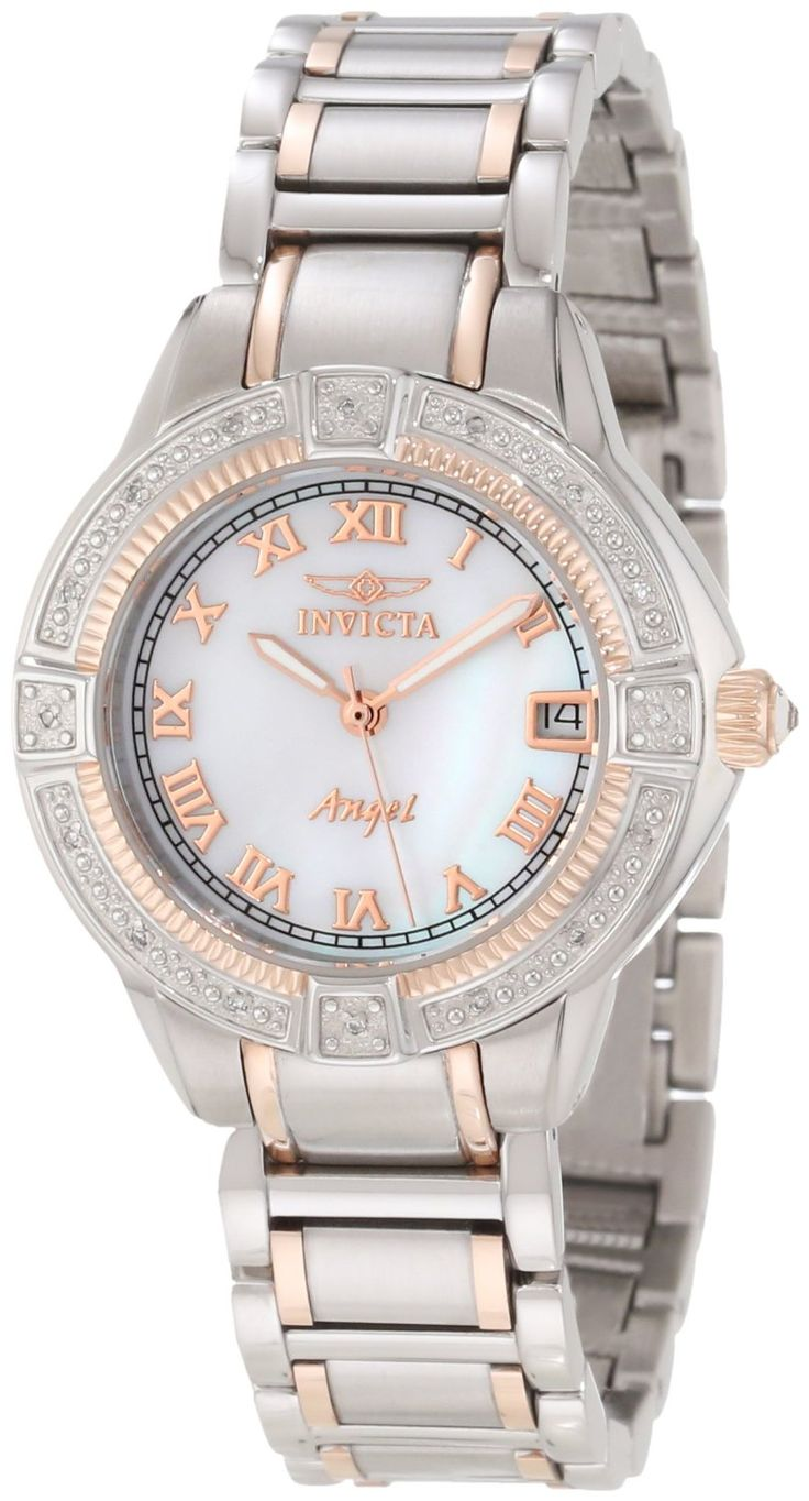 #Invicta #Watch , Invicta Women's 12806 Angel Mother-Of-Pearl Dial Diamond Accented Watch