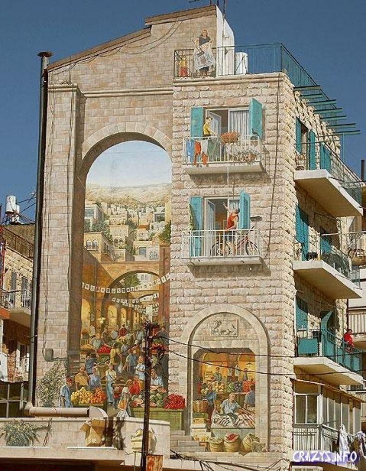 Рисунки на зданиях фото