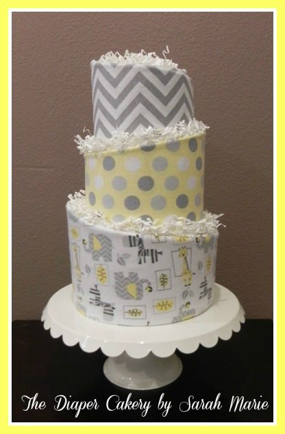 147 best the diaper cakery by sarah marie images on pinterest gray yellow topsy turvy diaper cake diaper cake gift baby shower negle Choice Image