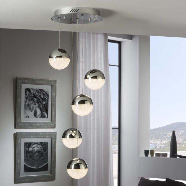 5 Light Led Cluster Pendant Sphere 24w Schuller Wonderlamp Shop Led Bedroom Interior Led Lights