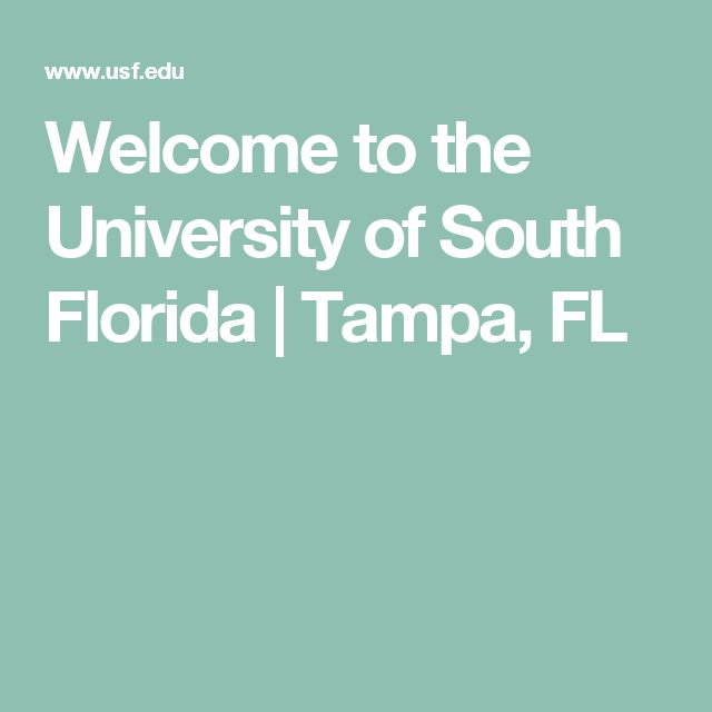 Welcome to the University of South Florida | Tampa, FL