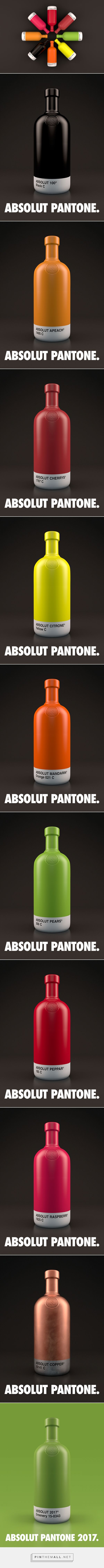 Absolut Pantone packaging design concept by Txaber - http://www.packagingoftheworld.com/2017/01/absolut-pantone.html