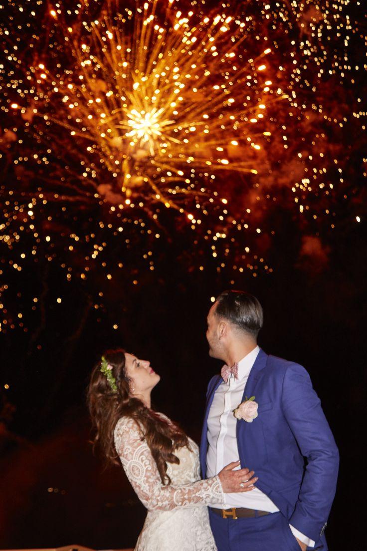 Couple, Fireworks, Happiness, Shine, Santorini Weddings, In Love