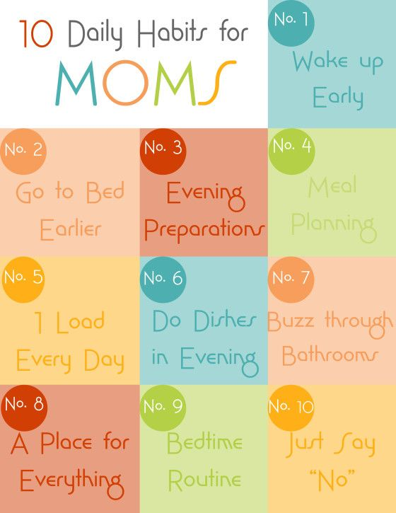 10 Daily Habits for Moms