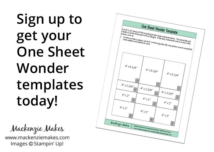 Sign up to get your One Sheet Wonder templates today! | www.mackenziemakes.com