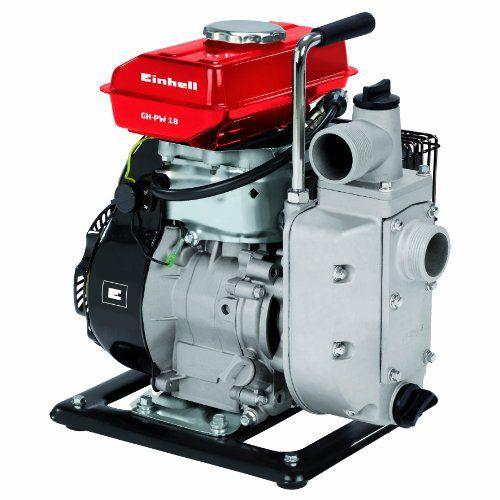 Einhell Pompe d'arrosage thermique GH-PW 18 (1.8 kW, Débit max. 12.000 l/h, Hauteur de refoulement 20 m, Livré avec 2 adaptateurs pour…