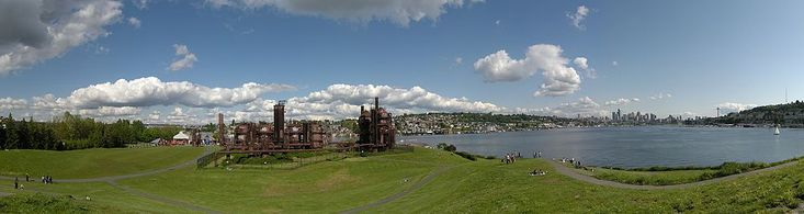 Gas Works Park. Lovely place to fly a kite. And see the city and a bunch of rusted out stuff. 2101 North Northlake Way