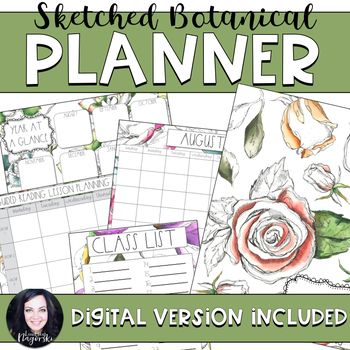 Organize your teacher planning binder with these beautiful recording sheets! Includes the basics to get your year started: -Class list  -Year at a glance planning page  -Class birthdays  -Monthly calendar pages  -Weekly planning pages  -Guided reading and guided math planning pages