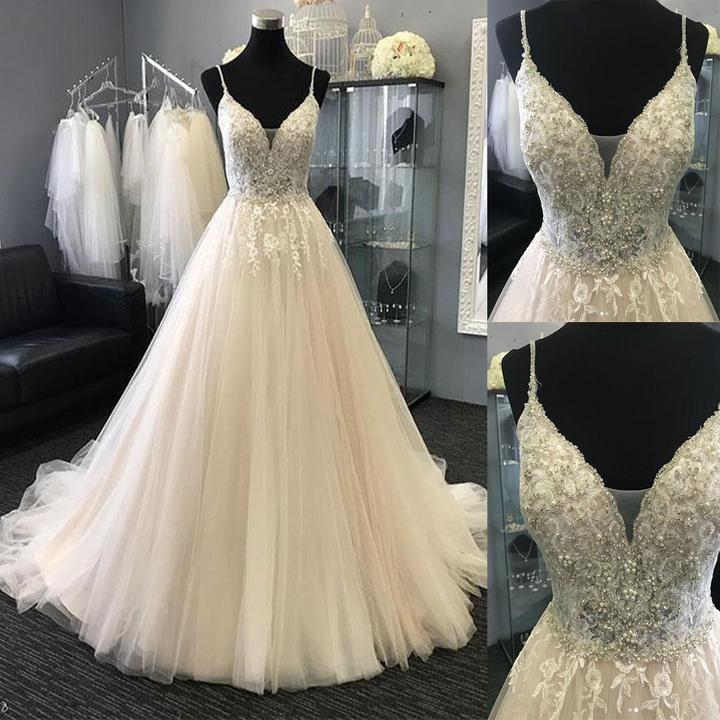 Leichte charmante Tüll Spitze lange Ballkleider, Abendkleider, formale charmante kostenlose …