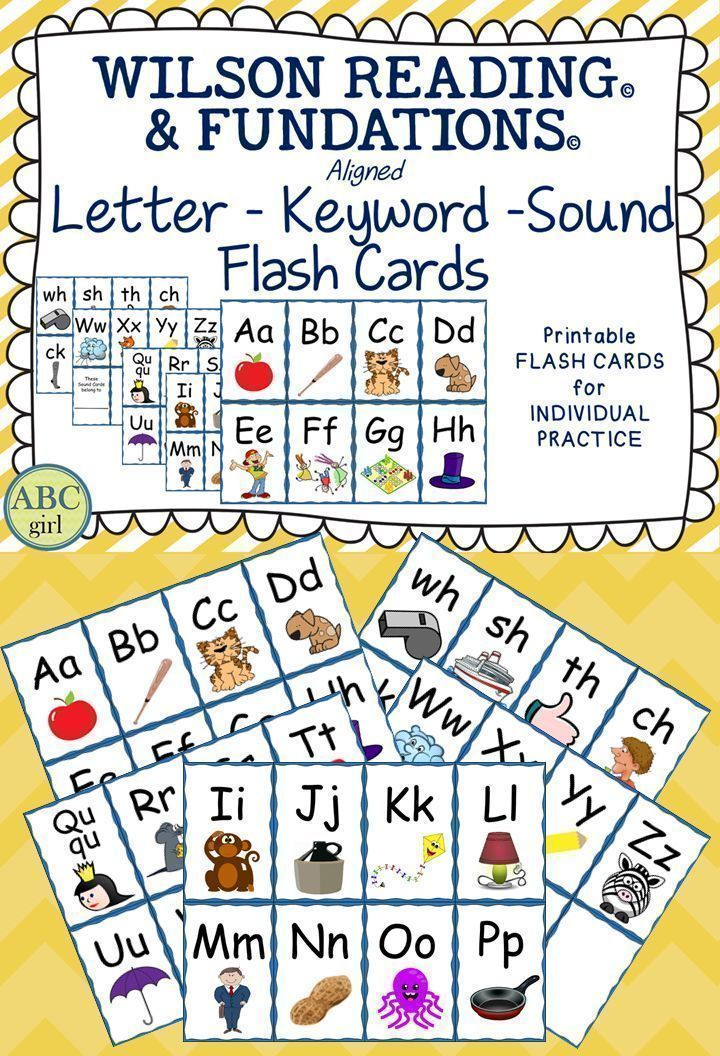 Wilson Reading System®️️️️️️️️ and Fundations®️️️️️️️️ aligned Letter-Keyword-Sound Flash Cards!