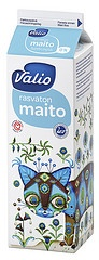 Valio skimmed milk - design Klaus Haapaniemi. Here kitty, kitty. PD