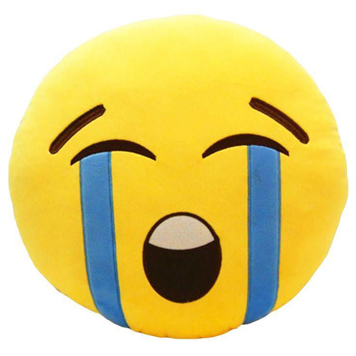 Crying Face Emoji Pillow