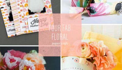 4 Floral Paper Crafts & Printable Ideas as seen on papercrave.com
