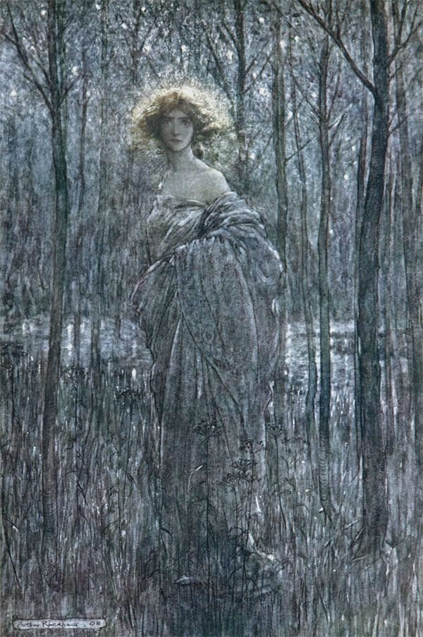 Fair Helena from MidSummer Night's Dream (1908) by Arthur Rackham.