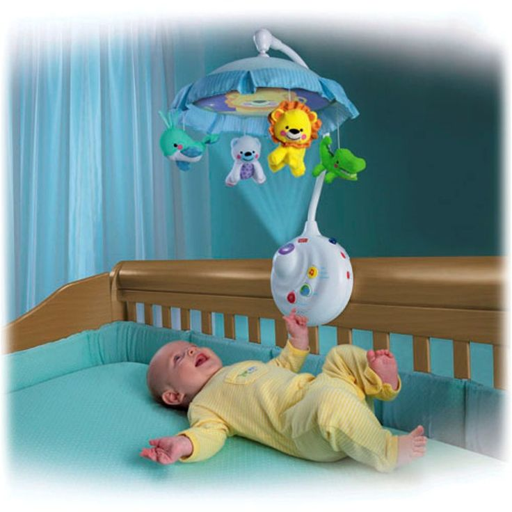 Fisher Price Precious Planet 2 in 1 Projection Mobile Animal friends from around the planet twirl and smile down at baby as music plays and a fascinating light show dances up above . The delicate canopy keeps images close, so it's easier for young babies to focus. As baby grows, you can remove the mobile and project the show on the ceiling, with sweet music or sounds playing along.
