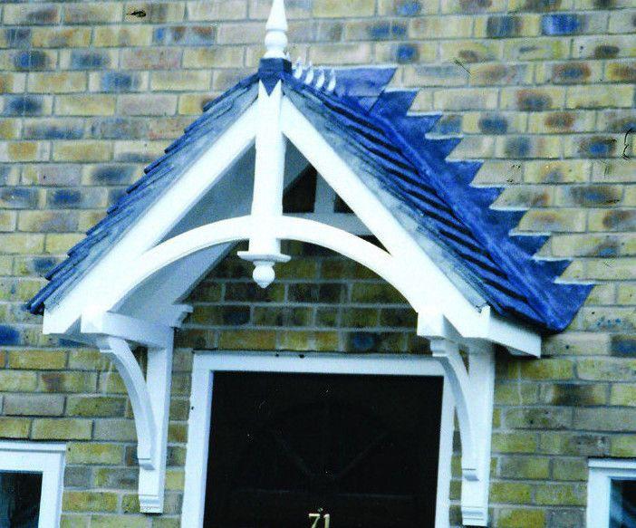 Chilcombe Wooden Door Canopy/Porch - Timber Door Canopies by George Woods