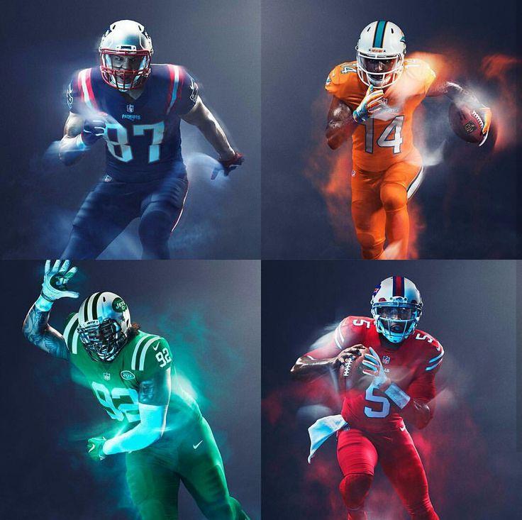 NFL: AFC East 2016 Color Rush Uniforms