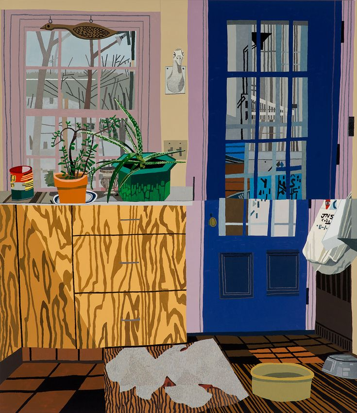 Jonas Wood Invites You Into His Colorful, Warped Painted Interiors