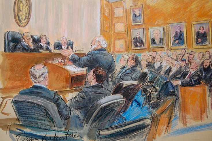 What do you do when cameras are not allowed? - courtroom sketches