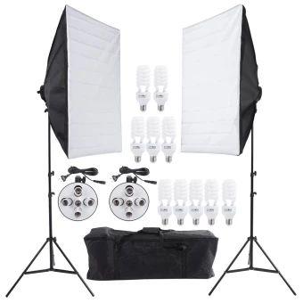 บอกต่อ  Photo Studio Video Continuous Lighting Kit Photography Light StandTwo 50 * 70cm Softbox Ten Bulbs Two Light Holder  ราคาเพียง  4,799 บาท  เท่านั้น คุณสมบัติ มีดังนี้ This set includes the softbox, light holders, bulbs, tripodstand and carrying bag. -Soft Box × 2 Two 50 × 70cm / 20 × 27in soft boxes. Ultimate soften light stream and remove shadow to make perfectshooting. High temperature resistance, can take for a long time use. High quality flash cloth, minimize light loss and…