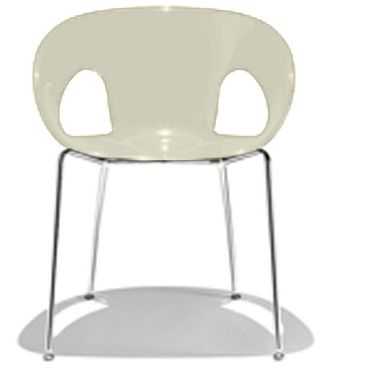 Melo Breakout Chair.  The Melo office meeting room, break-out, reception chair or visitor chair is constructed out of 18mm steel tube. The shell is made from technopolymer high tech poly compound. The Melo carries a full one year warranty.