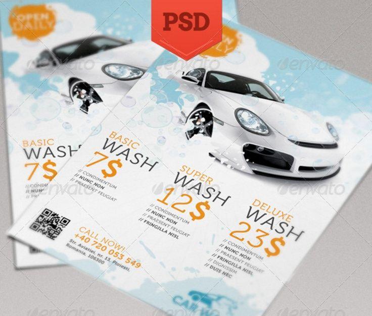 Best Car Wash Images On   Car Wash Flyer Template