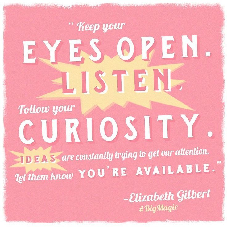 Every #MotivationalMonday, Eat Pray Love author Elizabeth Gilbert shares quotes from her upcoming book, Big Magic, (out Sept. 22) on her Instagram and Facebook accounts — and they are just too good not to share. I recently finished the book, and I can vouch for it being a must read for anyone hoping to live a creative life.