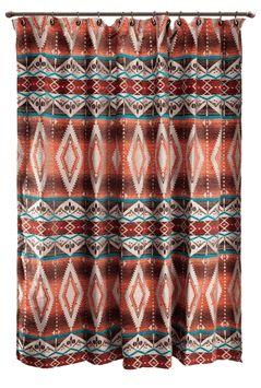 "(CARJB6105) ""Mojave Sunset"" Western Shower Curtain"