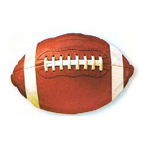 """Football 18"""" Mylar Balloon. Mylar balloons make a great decoration for your next football or super bowl party. Float them from centrepieces or combine them with latex balloons in your favorite team colours."""