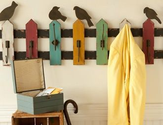 cute for a mudroom or garage... even a porch to hang wraps or blankets on for those cooler evenings and mornings.