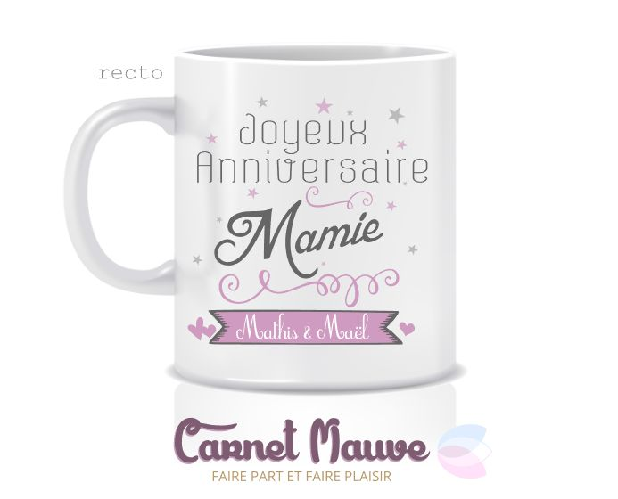 mug joyeux anniversaire mamie