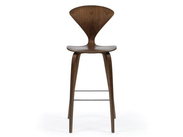 Cherner Bar Stool with Wooden Base