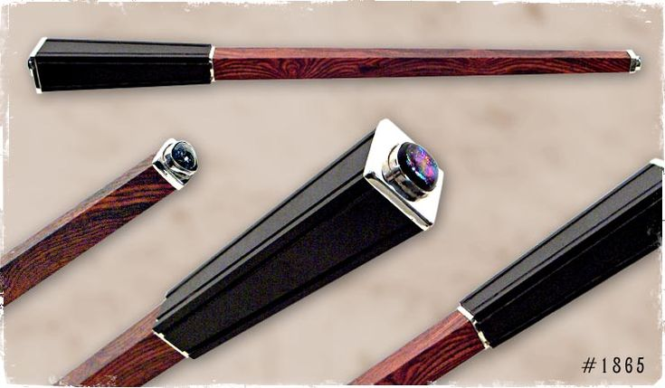 Nuumite dichroic glass sorcerer wand ritual tools for Wand designs