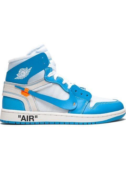 OFF WHITE X NIKE AIR JORDAN 1 POWDER BLUE UNC AQ0818 148 off white X Nike Air Jordan 1 higher frequency elimination sneakers blue size US10.5(28.5cm)
